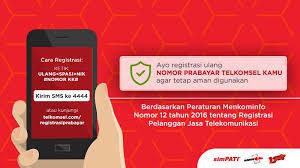 Cara Registrasi Ulang Kartu SIM Telkomsel, Tri, Indosat, XL, Smartfren